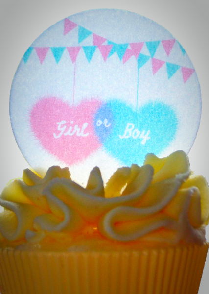 Edible cake topper - Girl or Boy